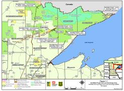 Mine Sites, courtesy MN DNR