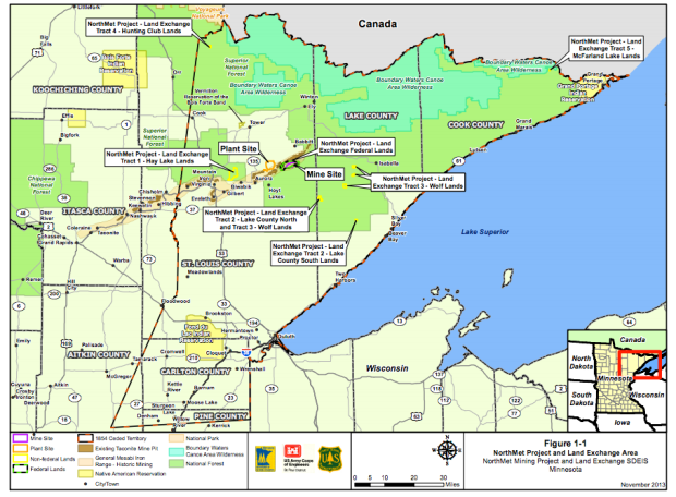 Mine Sites, courtesy MN DNR