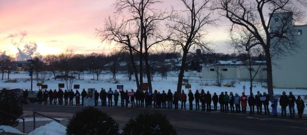 Northfield MN Feb 3 #NoKXL Vigil, photo credit Credo Action