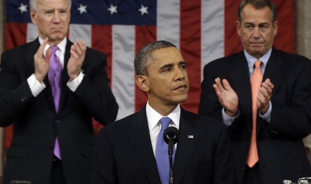 President Obama, VP Biden, Speaker Boehner, SOTU 2015