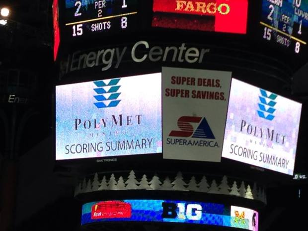 Scoreboard at the X, 2014 State HS Tourney